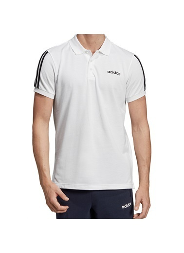 adidas M Cot Polo 3S Erkek Kısa Kol T-Shirt Beyaz